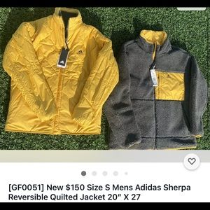 New Gold & Gray Reversible Sherpa Quilted